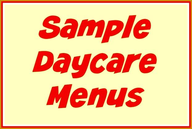 behavior daycare medical forms sample daycare menus 418623