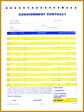 Standard Consignment Form 3 part 100 pack 372279
