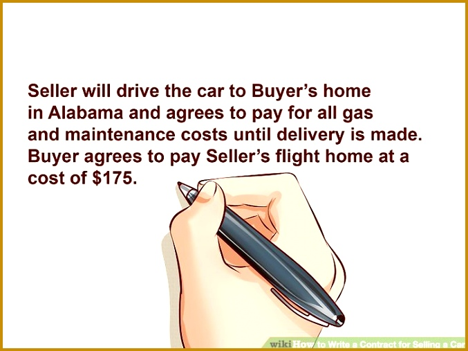 Image titled Write a Contract for Selling a Car Step 5 507677