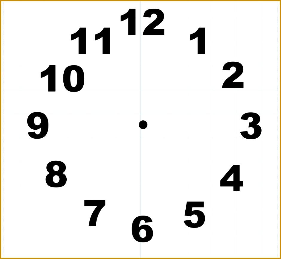 3 Digital Clock Template Printable Fabtemplatez