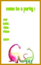 Tyrannosaurus Rex dinosaur themed free kids party invitation template 211133
