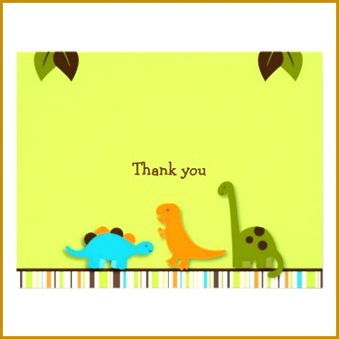 Lil Dino Dinosaur Thank You Note Cards Personalized Invite 476476