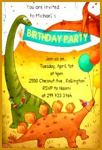 Dinosaurs Birthday Party 298204