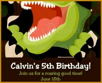 T S M L F · Party Invitation Templates Dinosaur Birthday 279344
