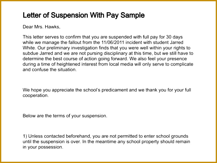 letter of suspension with pay sample 227 4 697522