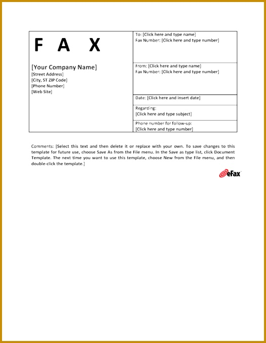 eFax Template 6 677525