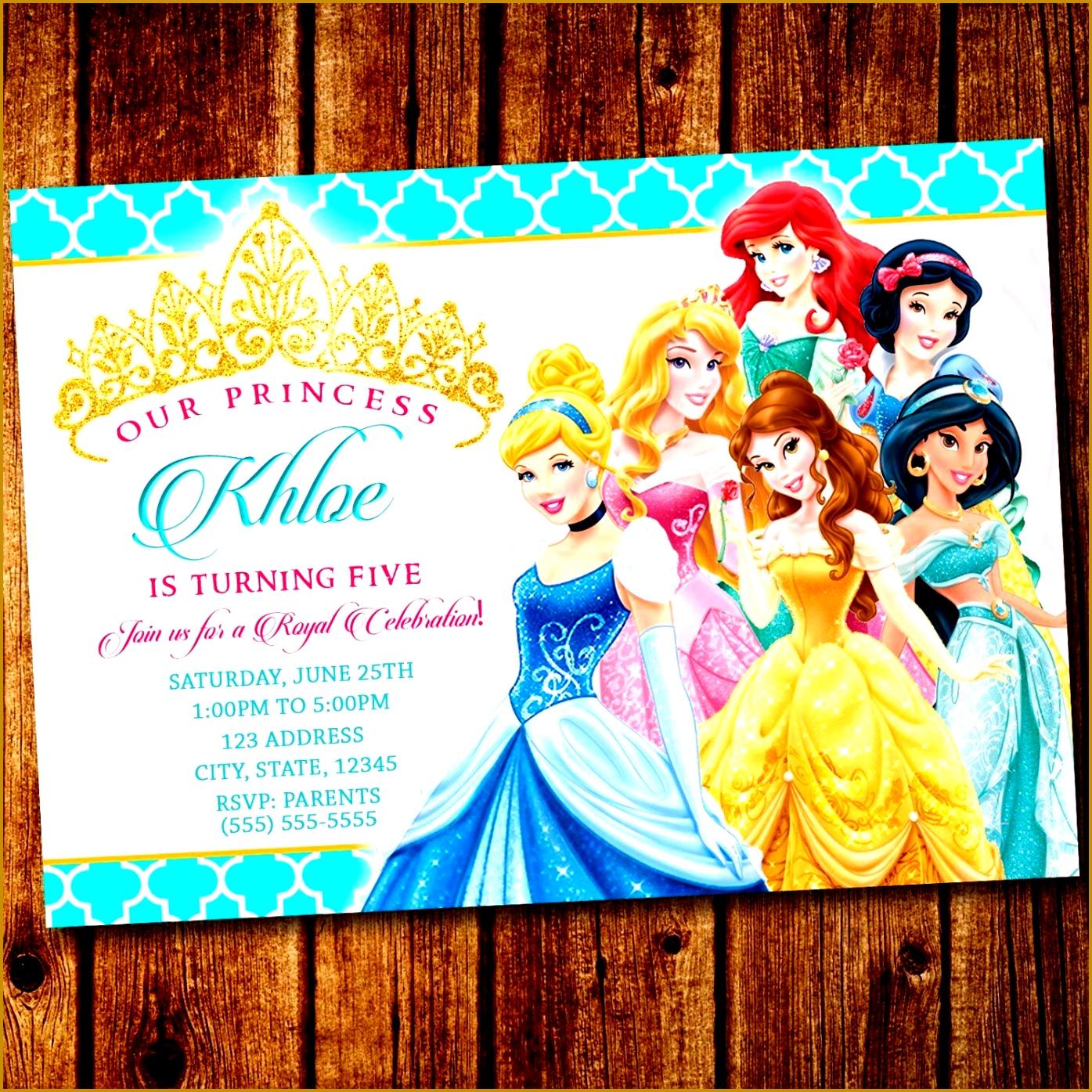 disney princess invitation templates free 13951395