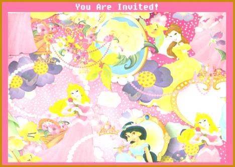 Free Printable Princess Party Birthday Invitation 334468