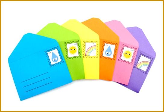 Printable DIY Play Small Envelopes & Stamps Download 372544