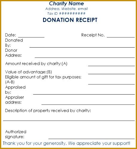 Blank Donation Receipt Template Word 458498