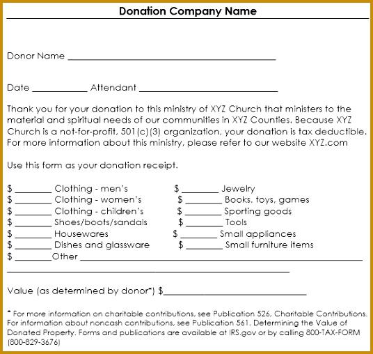 non profit donation receipt template 536508