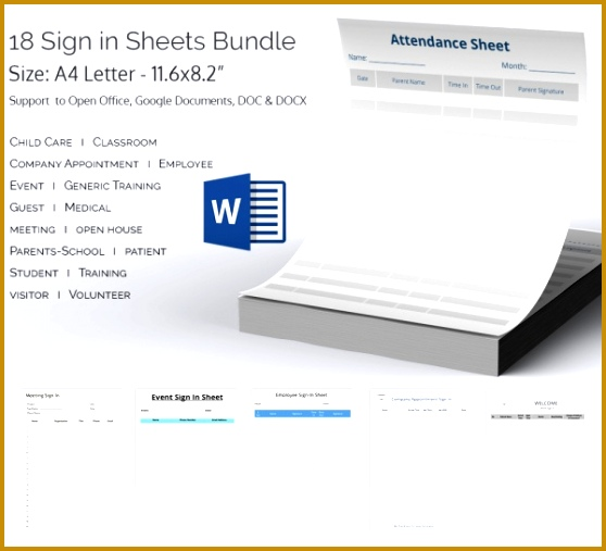 Sign in Sheets Bundle 558507