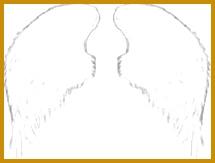 Simple Angel Wings Drawing 163215