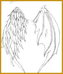 Angel demon wings How to Draw Manga Anime 219258