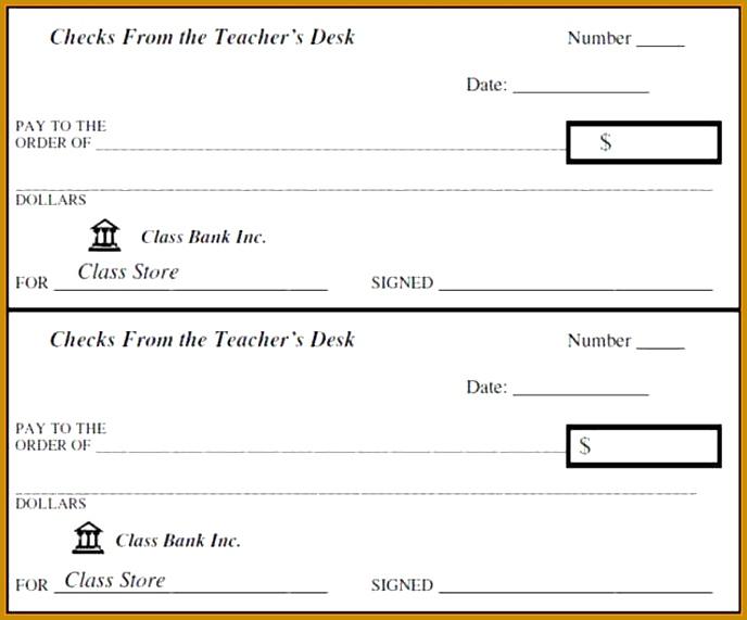 5 Editable Blank Check Template   FabTemplatez