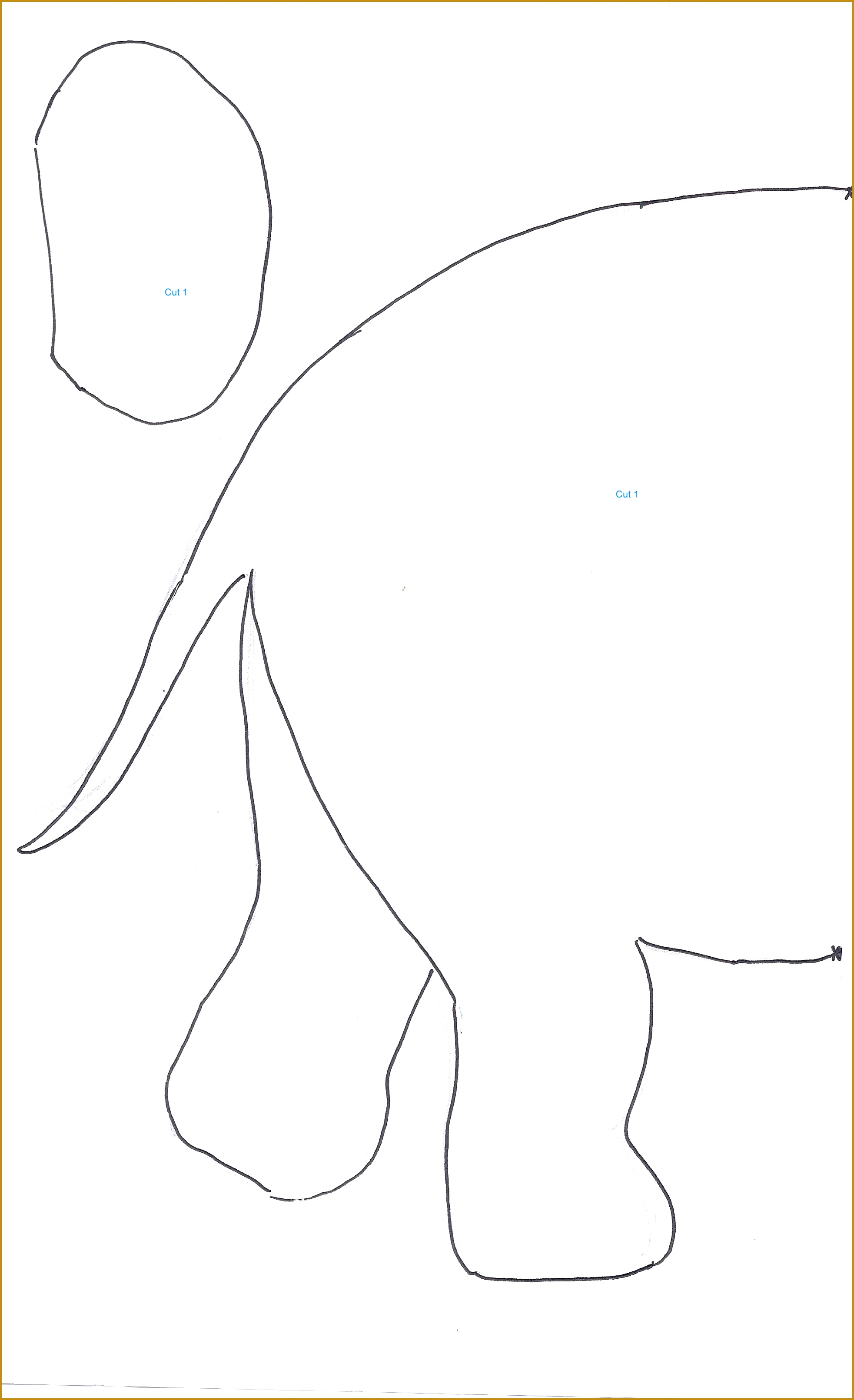 Elephant Cut Out Template 00034 Upcycled Shamwow Elephant Baby Placemat Home Crafts