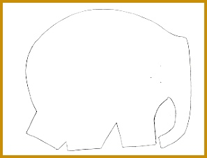 Elephant Cut Out Template 17737 Elmer the Elephant Pattern