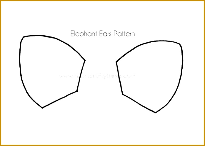 Elephant Cut Out Template 27407 Cupcake Liner Elephant Craft