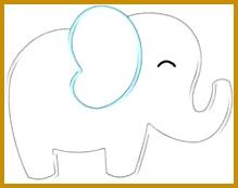 elephant applique template Google Search Elephant StencilElephant Quilts PatternElephant 173219