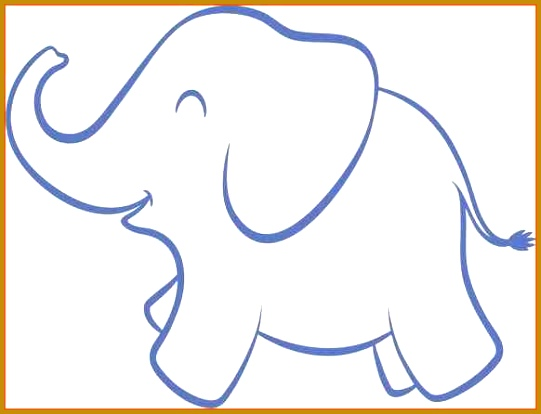 Elephant Cut Out Template 67589 Elephant Cut Out Template