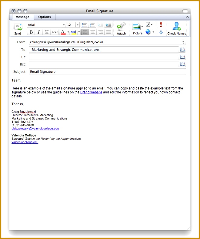 College Student Email Signaturepen Email Signature Example 790660