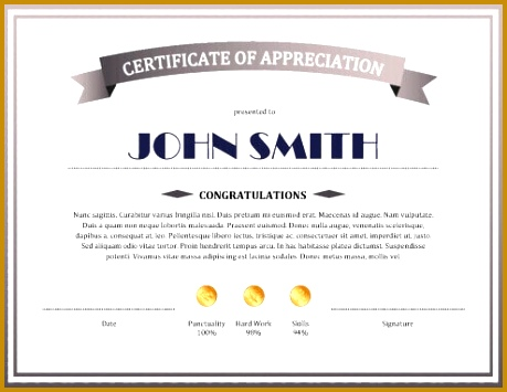 Sample Certificate of Appreciation 355459