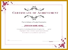Word Achievement Award Certificate can be used to draft your own professional document of appreciation for 219163