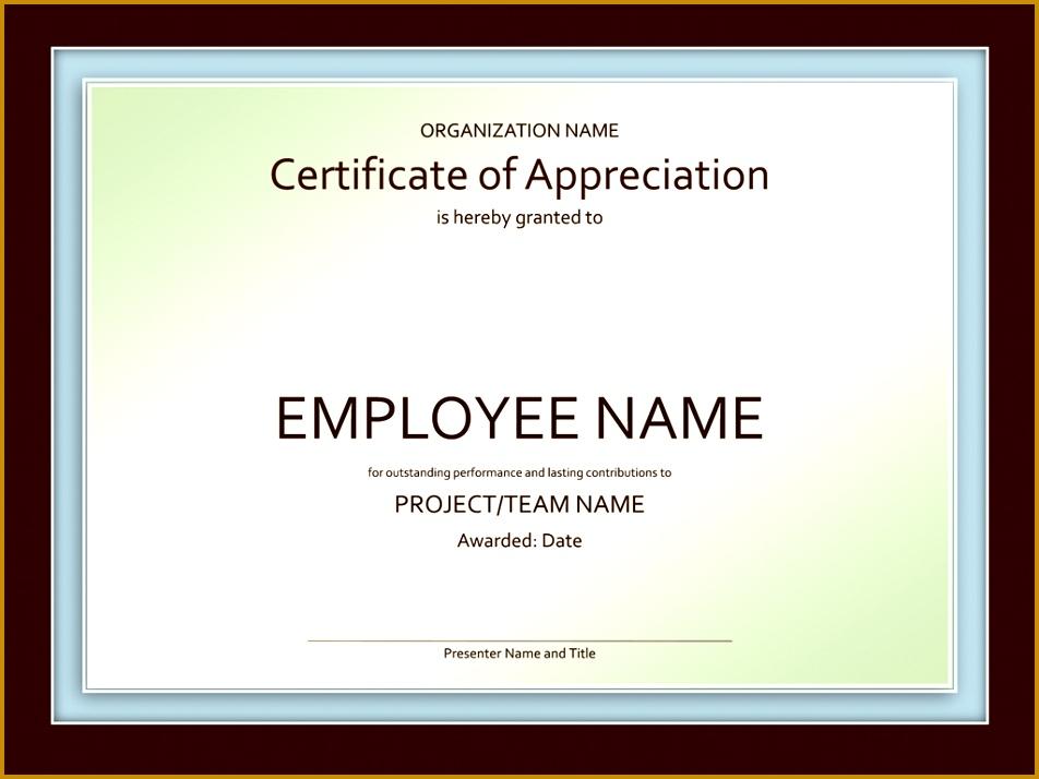 Certificate of appreciation 952714