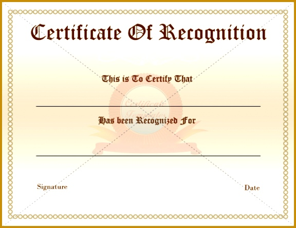 Certificate Appreciation Recognition Award Template Samples For Employee Business Recognition Certificate For The 445576