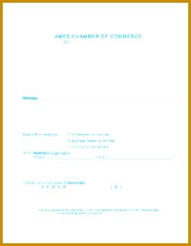 AMES CHAMBER OF MERCE 201 Award Nomination Application 358277