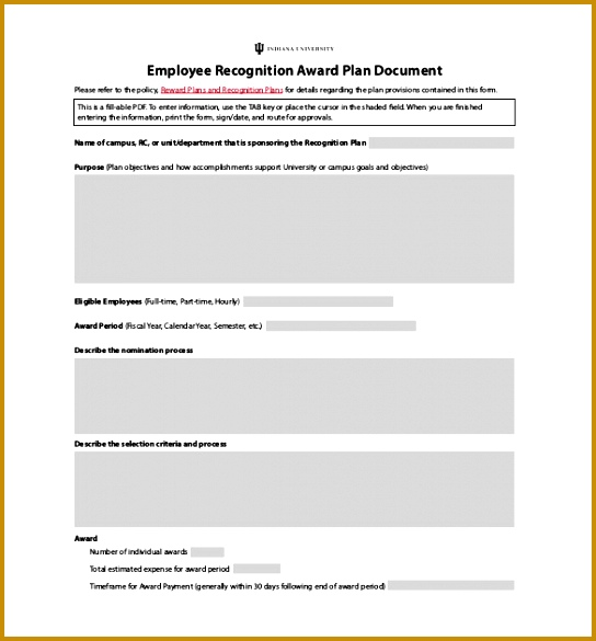 Employee Recognition Award Plan PDF Document 585544