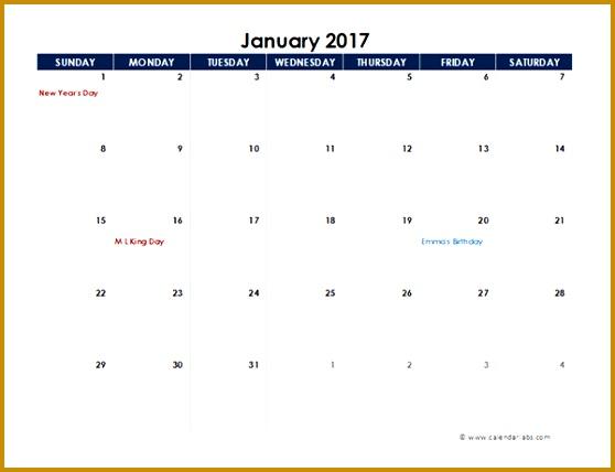 2017 excel calendar spreadsheet template 428558