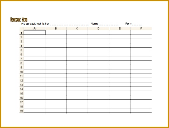 Blank Spreadsheet Sample PDF Template Free Download 411544