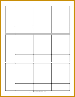 Blank Three Panel ic Template paper 261338
