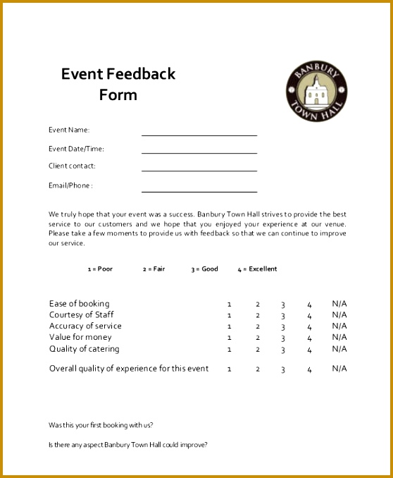 Feedback Form About Our ServiceSample Information Sheet Templates