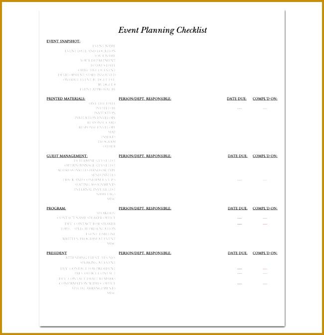 3 Event Planner Checklist Template - Fabtemplatez - Fabtemplatez
