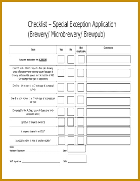 Event planning checklist template Checklist Special Exception Application Brewery 358277