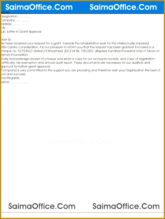 5 Example Of A Acknowledgement Letter | FabTemplatez