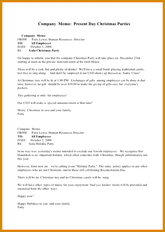 10 different ways to write memo pany holiday Memo Essay Example 784558