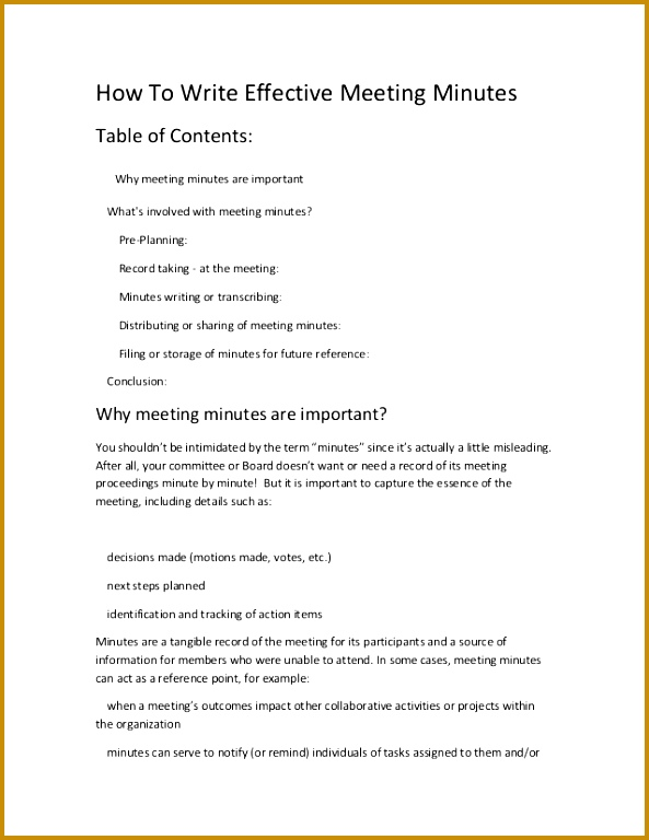 How To Write Effective Meeting Minutes Table of Contents Why meeting minutes are important What s 593768