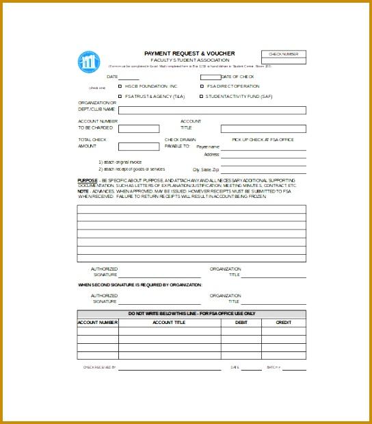 Sample Payment Voucher Template Download 619544