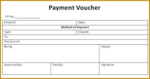 Payment Voucher Template 624331