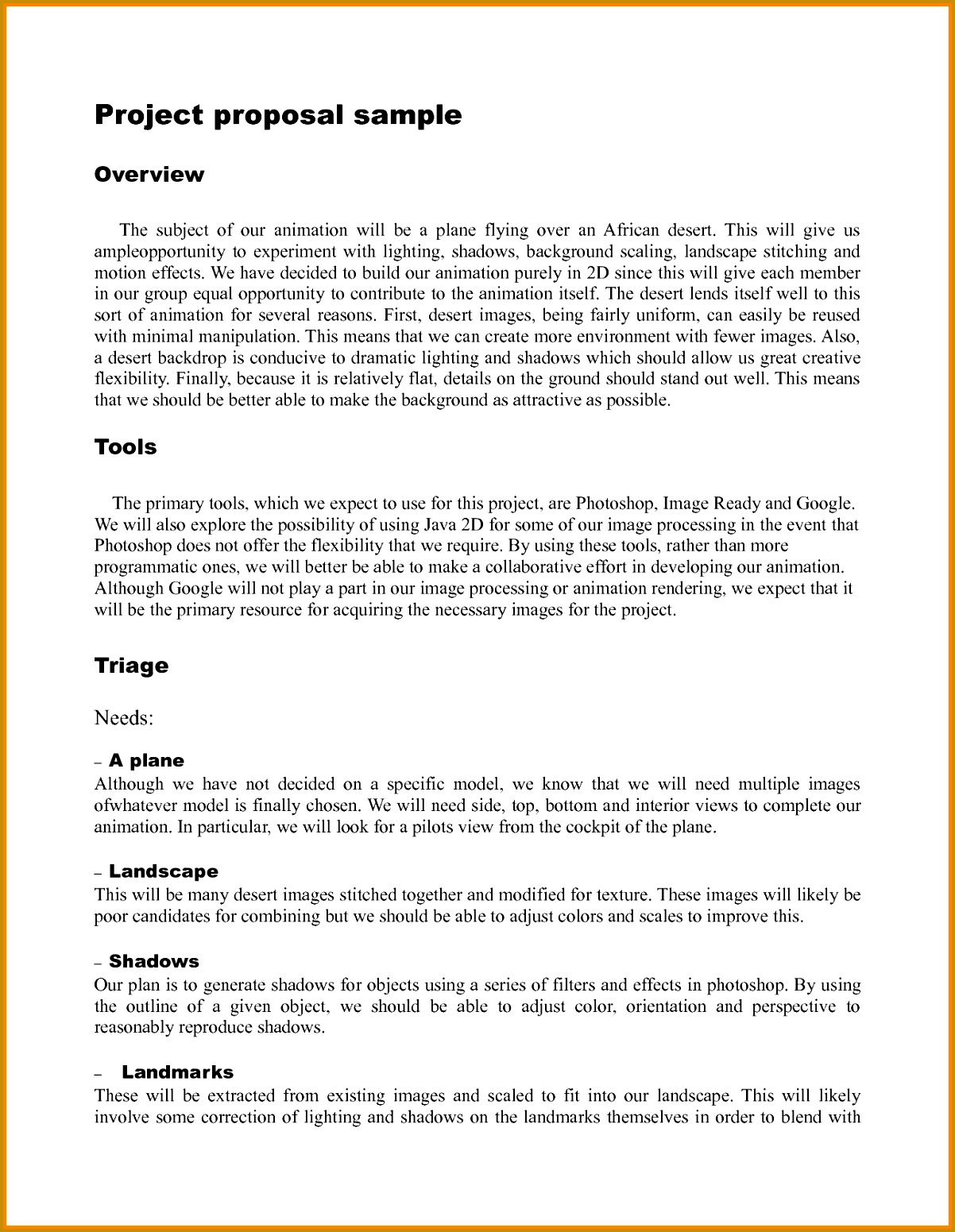 6 example of project proposal format 15511202