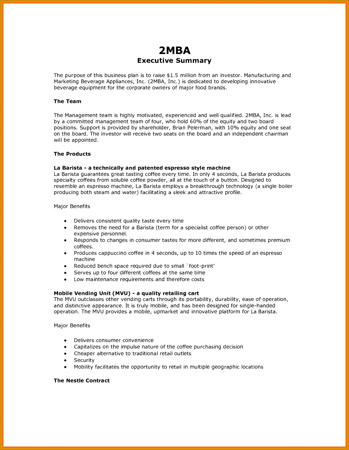 Executive Memo Format Example 15137 11 Executive Summary Examples