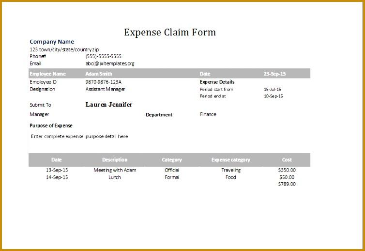 expense claim form 518754