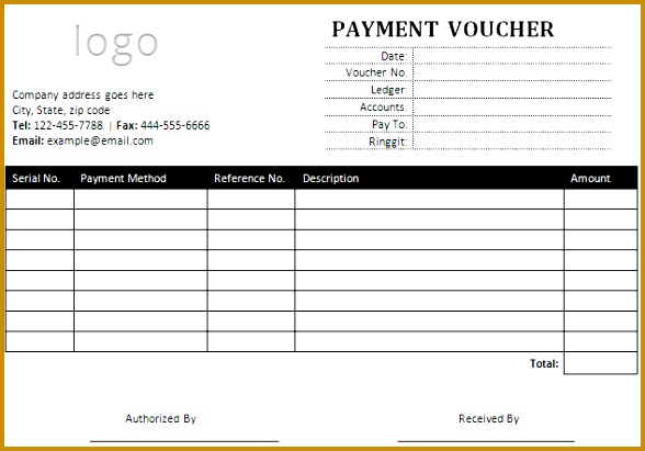 sample payment voucher template for microsoft word 411588