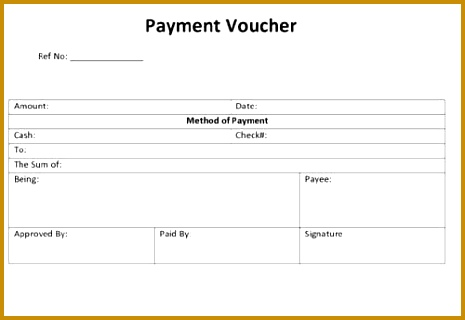 Payment Voucher Template 465320
