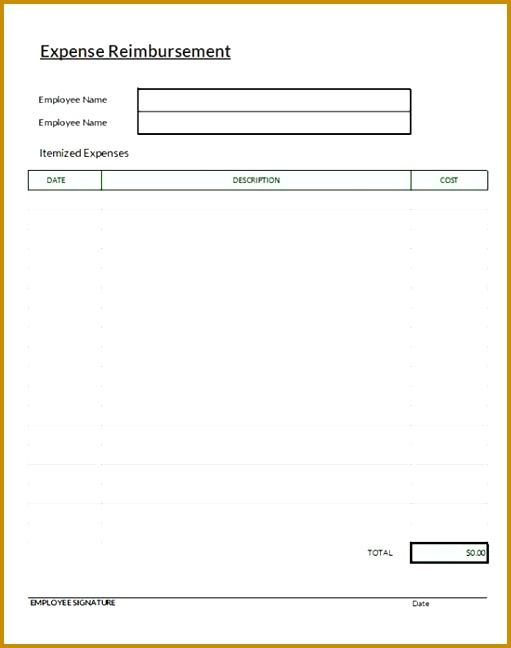 Expense Reimbursement Form 648511
