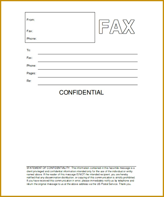 31 Fax Cover Sheet Template For Pages Printable Fax Cover Sheet 651544