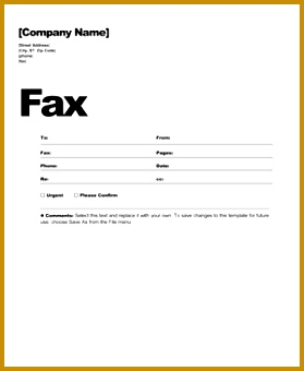 Fax cover sheet template 279340